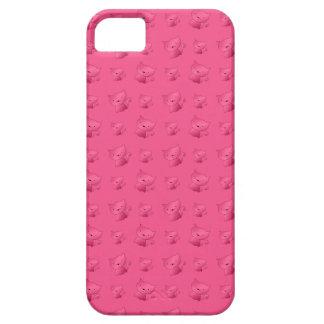 Cute pink cat pattern iPhone 5 cover