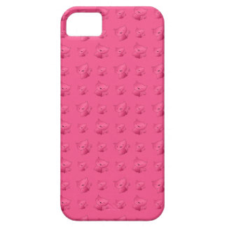Cute pink cat pattern iPhone 5 covers