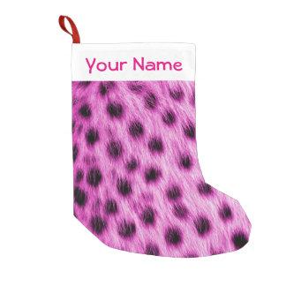 Cute Pink Cheetah Fur Look Add Your Name