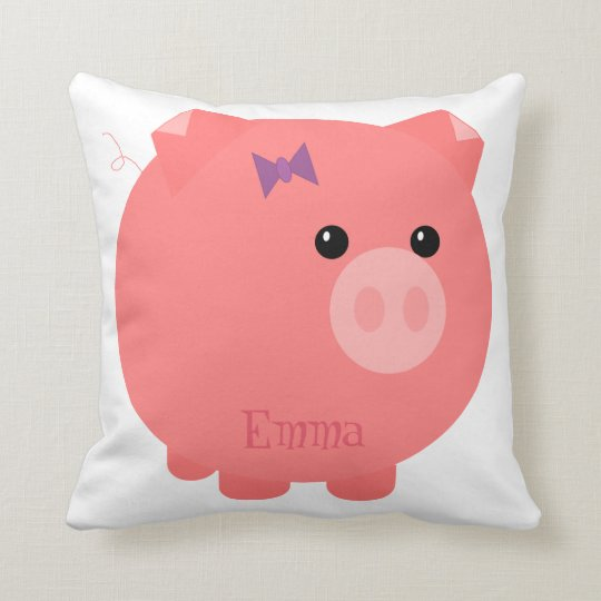 Cute Pink Chubby Pig Pillow