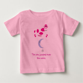 Cute Pink Cow Jumping Over The Moon T Shirts