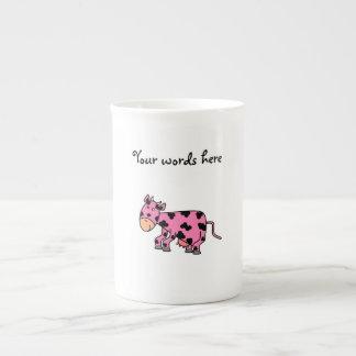 Cute pink cow bone china mugs