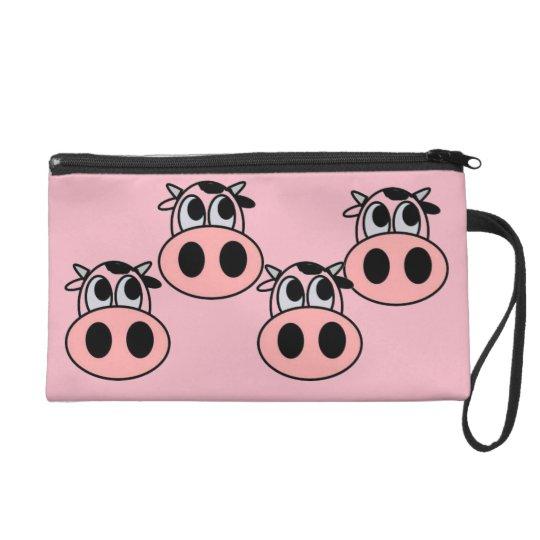CUTE PINK COWS COSMETIC BAG