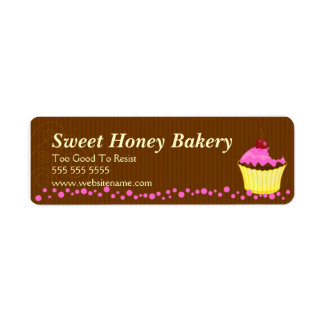 Cute Pink Cupcake Bakery Labels