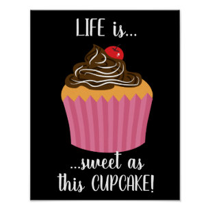 Cute Cupcake Quotes Posters Prints Zazzle Uk