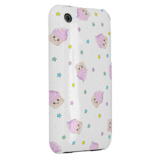 Cute pink cupcakes pattern iPhone 3 Case-Mate case