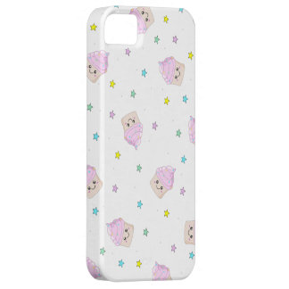 Cute pink cupcakes pattern iPhone 5 case