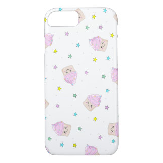 Cute pink cupcakes pattern iPhone 8/7 case