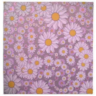Cute PInk Daisies over Lavender Background Cloth Napkin