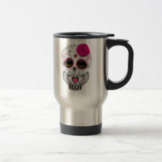 Cute Pink Day of the Dead Sugar Skull Owl Mugs