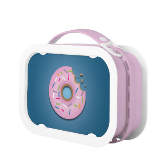 Cute Pink Donut with Sprinkles Yubo Lunchbox