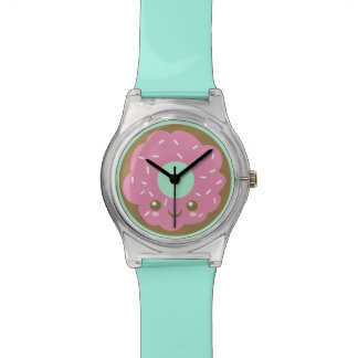 Cute Pink Donut Wristwatches