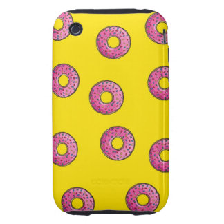 Cute Pink Donuts iPhone 3 Tough Cases