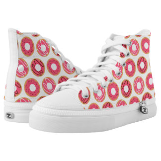 Cute Pink Donuts Pattern High Tops