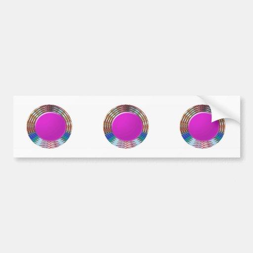 CUTE pink DOT circle BINDI sparkle: LOWPRICE STORE Bumper Sticker