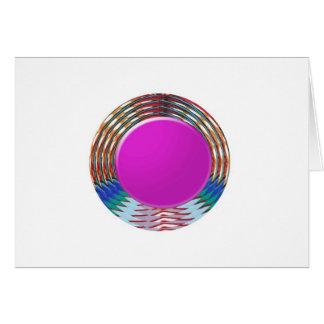 CUTE pink DOT circle BINDI sparkle: LOWPRICE STORE Greeting Card