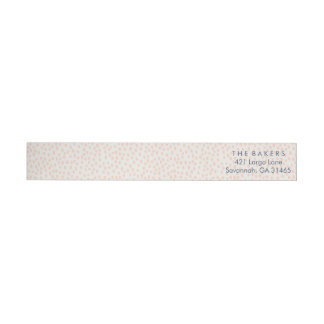 Cute Pink Dotted Wraparound Return Address Label