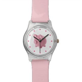 Cute Pink Farm Animal Pig Design Watch