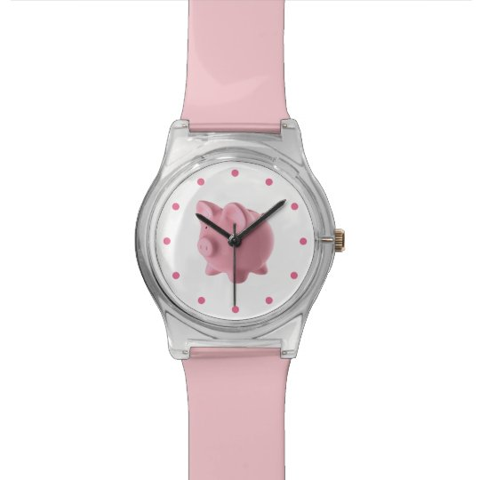 Cute Pink Farm Animal Pig Design Watch
