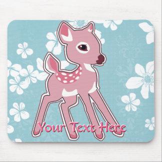 Cute Pink Fawn Mousepad