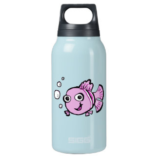 Cute Pink Fish Insulated Water Bottle