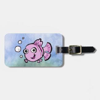 Cute Pink Fish Luggage Tag