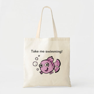 Cute Pink Fish Tote Bag
