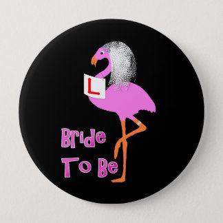 Cute Pink Flamingo Bachelorette Hen Party Theme 10 Cm Round Badge