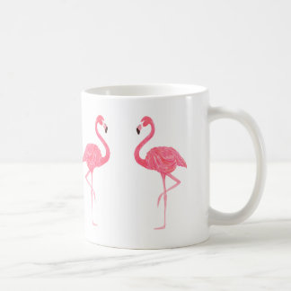 Cute pink Flamingos Illustration Coffee Mug