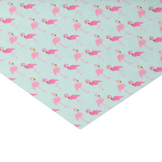 Cute Pink Flamingos Tissue Paper