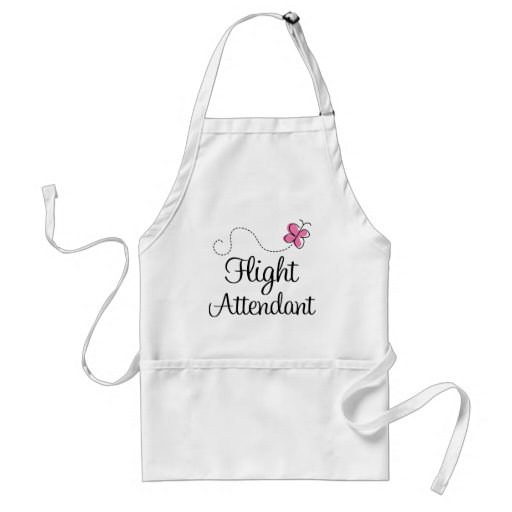 Cute Pink Flight Attendant Aprons