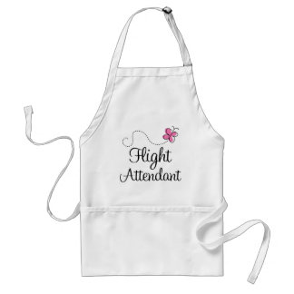 Cute Pink Flight Attendant Standard Apron