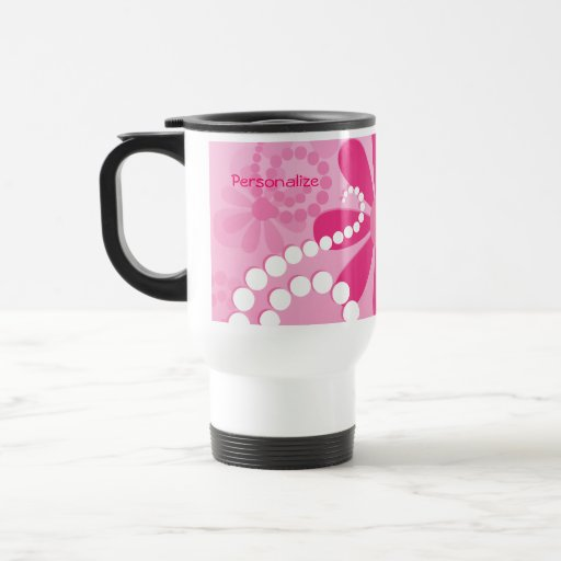 Cute Pink Floral Girly Retro Daisy Flowers Mugs