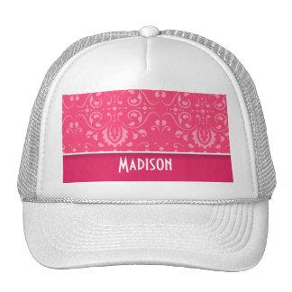 Cute Pink Floral Hat