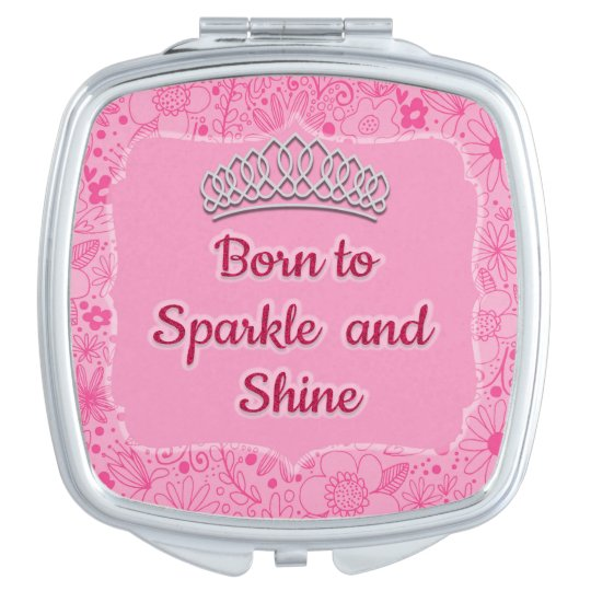 Cute Pink Floral Pageant Tiara Born to Sparkle