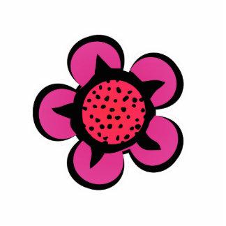 Cute Pink Flower Magnet Photo Sculpture