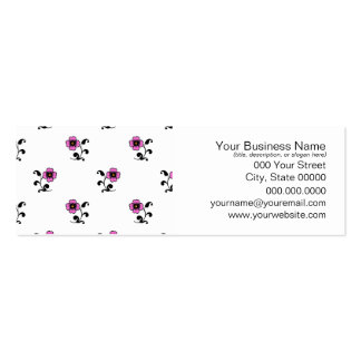 Cute Pink Flowers on White Business Card