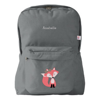 Cute Pink Fox Backpack