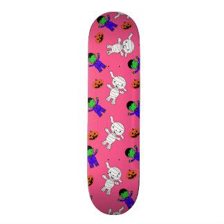 Cute pink Frankenstein mummy pumpkins Skate Board Decks
