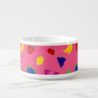 Cute pink fruits pattern chili bowl