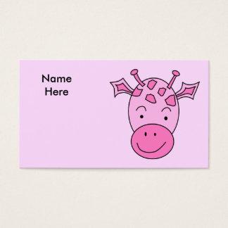Cute Pink Giraffe. Business Card