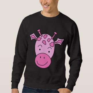 Cute Pink Giraffe. Sweatshirt
