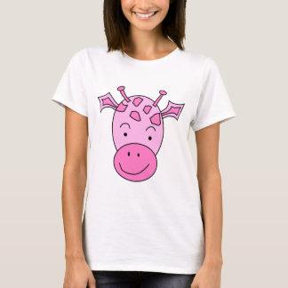 Cute Pink Giraffe. T-Shirt