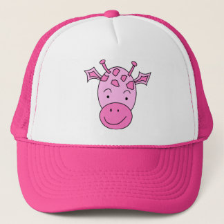 Cute Pink Giraffe. Trucker Hat