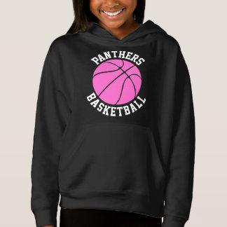 Cute Pink Girls Custom Basketball Sweatshirt