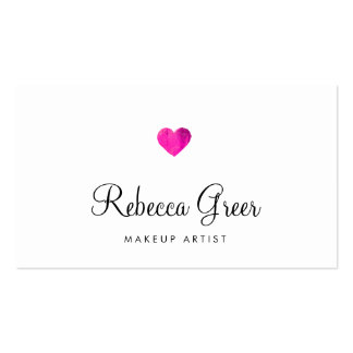 Cute Pink Heart Modern Beauty Consultant Pack Of Standard Business Cards