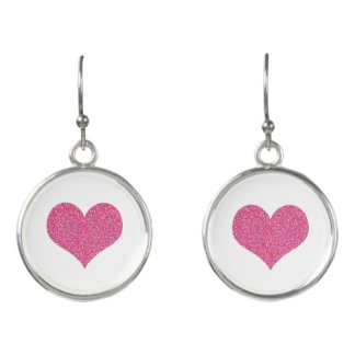 Cute Pink Hearts Girly Earrings