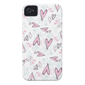 Cute Pink Hearts Love Valentine's Day Design iPhone 4 Case-Mate Cases