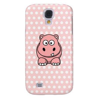 Cute Pink Hippo Galaxy S4 Case