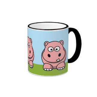 Cute Pink Hippo Coffee Mugs